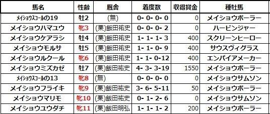 20210307阪神1メイショウハマユウ兄姉